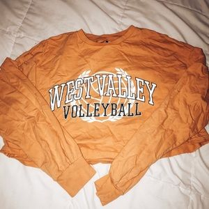 orange west valley volleyball shirt